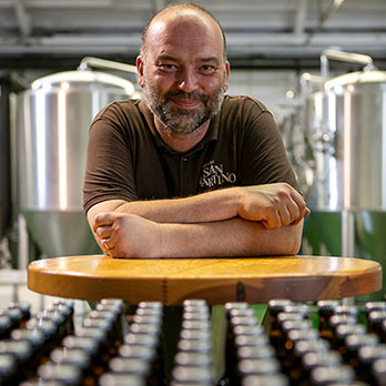Giovanni Marsan, - master brewer of the Birreria San Martino