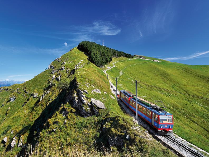 Image 0 - Train à cremaillère Monte Generoso